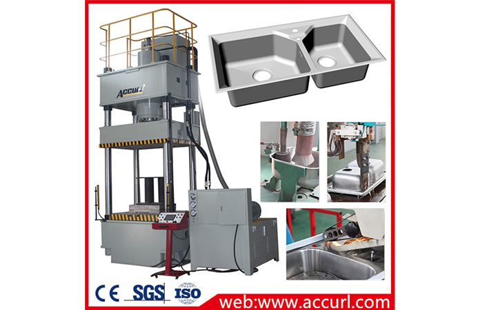 Stainless Steel Kitchen Sink Production Line with Deep Drawing Hydraulic Press